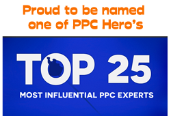 Proud to be named one of PPC Hero's Top 25 Most Influential PPC Experts 2015