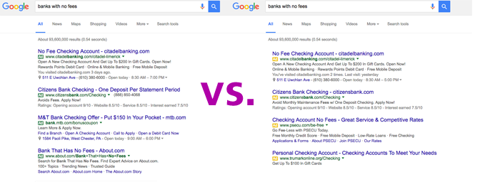 AdWords Green Versus Yellow Labels
