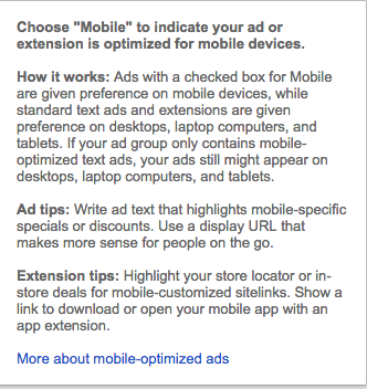 Mobile Preferred Option Explained in AdWords