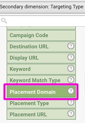 Placement Domain Selection