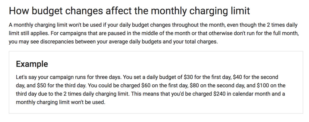 Changing Your Daily Budget Limit